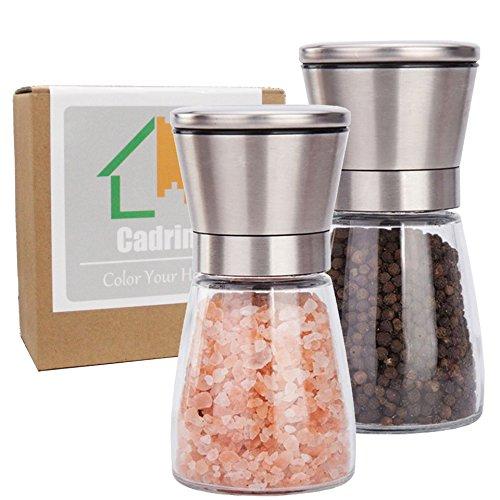 Cadrim-Moulin–poivre-et-sel-Manuel-Moulin–sel-Moulins–pices-Salires-et-Poivrires-Broyeur-manuel-Pour-Cuisine-Repas-Plat-Table-Set-de-deux-0