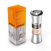 yinboti-Moulin--Poivre-et-Sel-en-Acier-Inox-avec-Meule-en-Cramique-Rglable-Broyeur--pices-2-en-1-Sans-pices-0