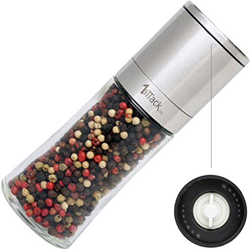 1aTTackde-Moulin–poivre-Moulin–sel-Moulin–pices-vide-avec-broyeur-en-cramique-Emballage-cadeau–150-ml–Hauteur-16-cm–acier-inoxydable-0
