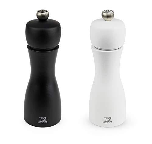 Peugeot-Tahiti-Duo-de-moulins–poivre-et–sel-manuels-Rglage-classique-Taille-15-cm-Bois-NoirBlanc-224260-0